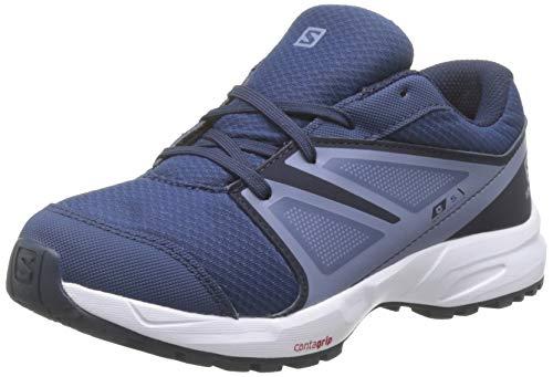 Salomon Kinder SENSE CSWP J Trail Running Schuhe, Farbe: blau (Sargasso Sea/Navy Blazer/Flint Stone), Größe: EU 39