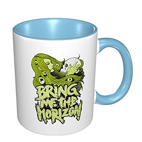N\A Bring Me The Horizon Taza de café/Taza de té/Taza Taza Divertida Tazas Individuales de Contraste de Colores Regalos Divertidos para Hombres y