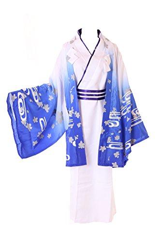 Kawaii-Story MN DE 35gugure kokkuri de San Japón Zorro Espíritu Blanco Kimono Yukata Juego Cosplay Disfraz