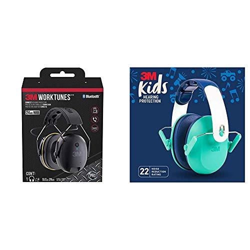 3M WorkTunes Connect Hearing Protection & 3M Kids Hearing Protection, Green