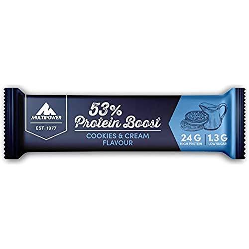 Multipower 53% Protein Boost Bar, 20 x 45 g Riegel (Cookies & Cream)