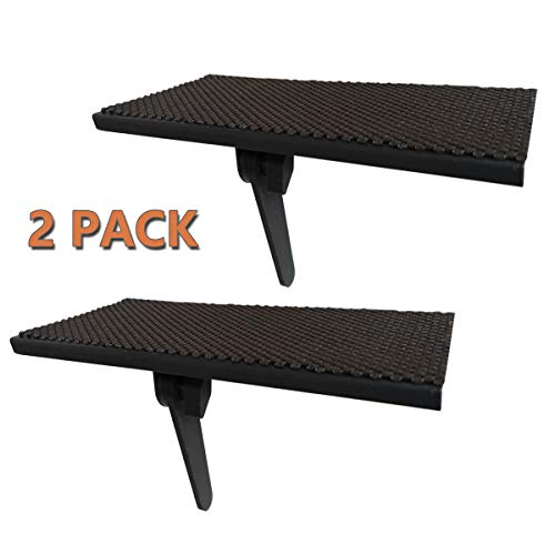 2 Pack Top Shelf TV Mounting Bracket 12 Inch Flat Panel Mount for Streaming Devices, Media Boxes, Speakers and Home Decor