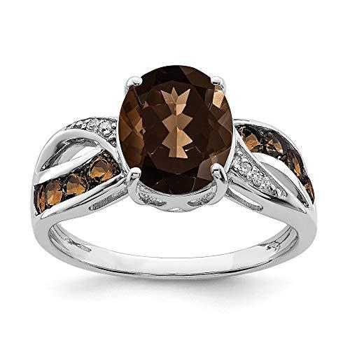 Smoky Quartz Gemstone Ring for Lovers