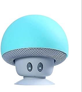 Alician Mini Portable Cute Mushroom Head Bluetooth Speaker Wireless Stereo Speaker with Suction Cup Light blue