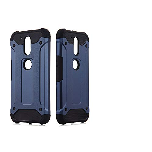 Phone Case for Motorola MotoG4 / Moto G4 Plus Cover and Cell Accessories Dual Layer Slim Full Body Protective Rugged Silicone G 4th Gen Generation G 4 4plus G4plus 4G G4+ Women Men Cases NavyBlue
