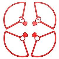 TOYANDONA プロペラガードuavプロペラブレードプロテクションドローンクアッドコプターアクセサリーマビックミニ互換(赤)
