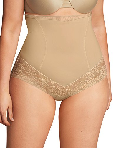 Maidenform Shapewear Hi-Waist Brief Braguitas Moldeadoras, Beige (Body Beige), 44 (Talla del Fabricante: XX-Large) para Mujer