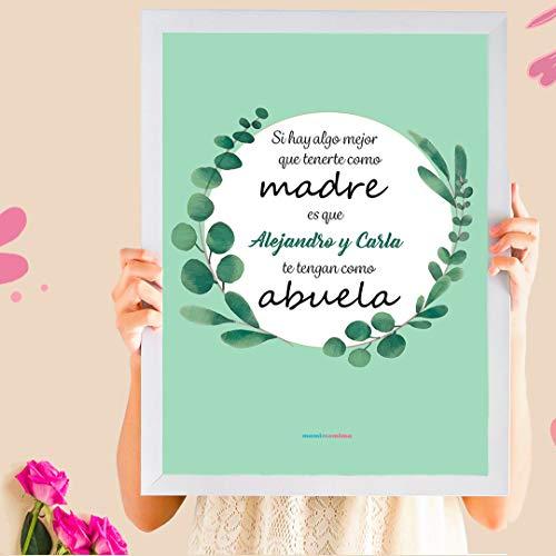 Cuadro Personalizado Día de La Madre | Regalo abuela personalizado con nombres