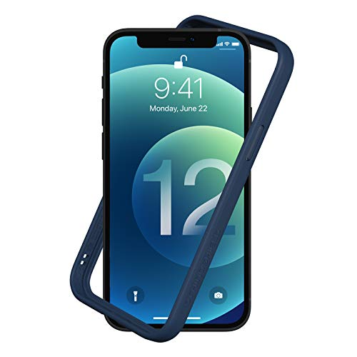 RhinoShield Funda Bumper Compatible con [iPhone 12/12 Pro] | CrashGuard NX - Carcasa con Tecnología de Absorción de Golpes - Resistente a Impactos de más de 3.5 Metros - Azul Marino