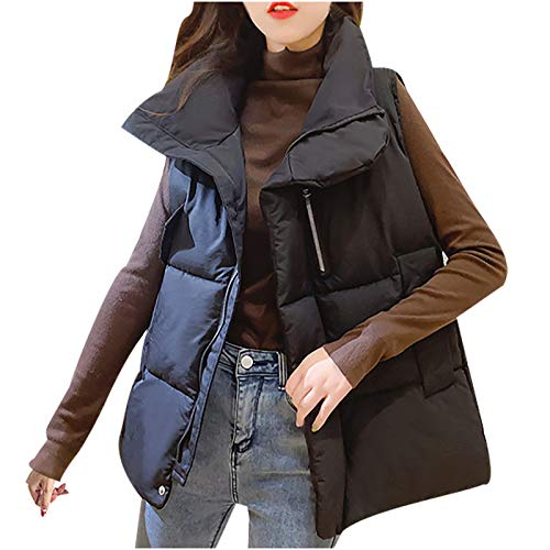 Kobay-Damen Valentinstag Paar Casual Comfort Winter Weste Weste Gilet Jacke Mantel Outwear Solid Keep Warm Tops