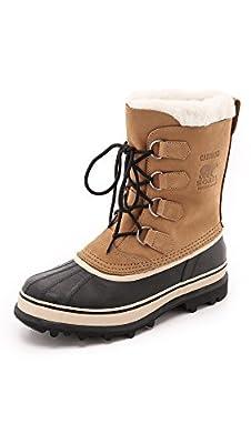Sorel - Men's Caribou Waterproof Boot for Winter, Buff, 8 M US