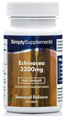 Equinacea 3200mg - ¡Bote para 4 meses! - Apta para veganos - 120 Comprimidos - SimplySupplements