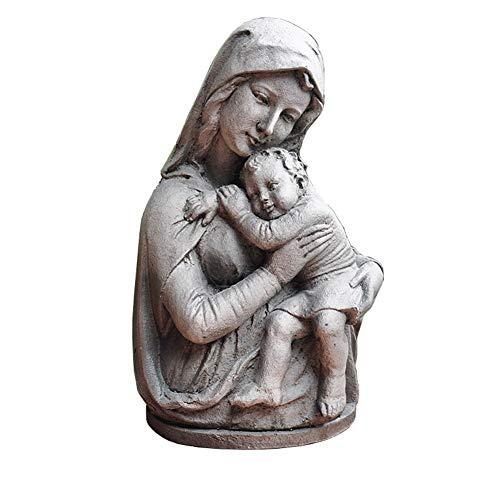 SDBRKYH Virgen María Escultura, Escultura decoración del jardín católico Estatua jardín de Maria Madonna de Media Longitud y Escultura