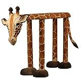 HuaLEiX Animal Giraffe Shoes Bank Hocker Soft Stools Set Adult Hocker/Massivholz handgeschnitzt 23.6x7.87x15.7inches