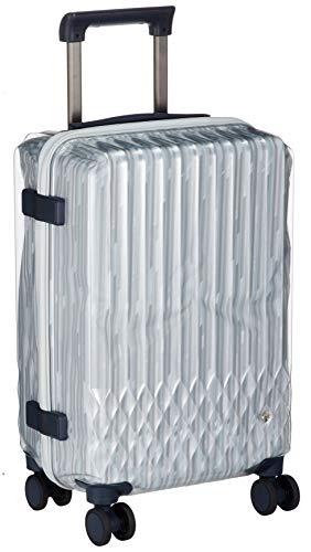 [ハント] スーツケース ソロ 機内持込み可 約1~2泊 32L クリア素材 キャスターストッパー付 ワイヤーコード付 ラゲージカバー付 06556 ダブルホイル 機内持ち込み可 48 cm 3.1kg オパールクリアヘアライン