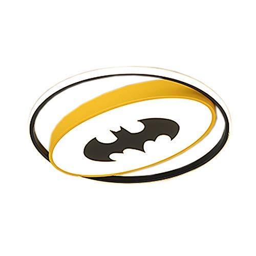 Szlight Superhero Plafonnier Led pour Enfants Moderne Créative Chambre Plafonnier Chambre Garçon LED Plafonnier Lampes D'intérieur Décorations D'éclairage (Batman,40CM)