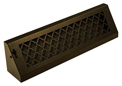 SteelCrest BTU18BBSORB Series Designer Baseboard Vent with Air-Volume Damper, Oil Rubbed Bronze