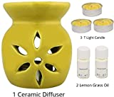 Aroma Salvation » brûleur en céramique Aroma Diffuseur 3 Pcs Gratuit lumignons avec 2 huiles aromatiques, 4 ML Chaque...