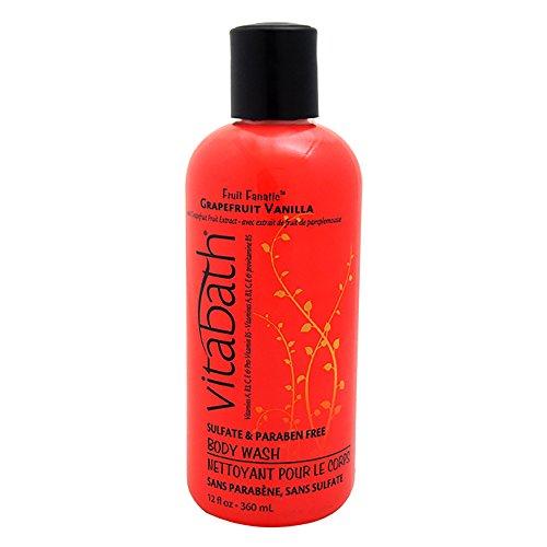 Vitabath Bath and Shower Gel, Grapefruit Vanilla, 12 Ounce