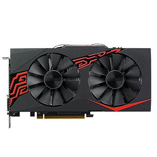 WERTYU Fit for ASUS RX 470 4GB Tarjeta de Video 256Bit GDDR5 Tarjetas gráficas Apto para Tarjetas de la serieFit for AMD RX 400 RX470 4GB RX 470 4G DVI Usado
