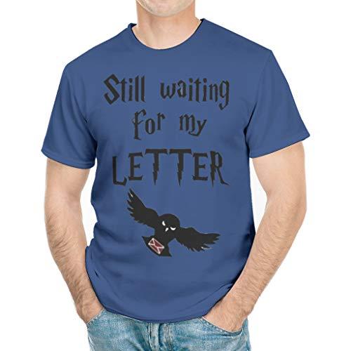 Immer noch auf Meinen Brief warten Humor Grafik Mehrere Muster T-Shirt T-Shirt für Vater Mutter Sohn Tochter Magic Academy White Large