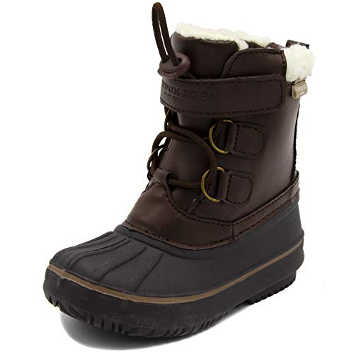 LONDON FOG Boys Oxford Toddler Cold Weather Snow Boot Brown 8