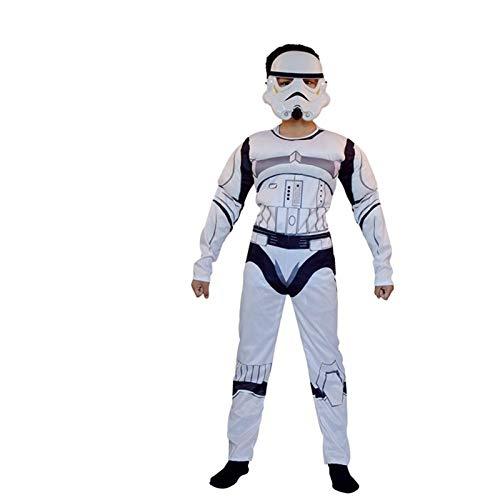 MAXIAOTONG Los Trajes de Star Wars Darth Vader Traje for Niños Star Wars Cosplay Carnival for los niños Vestido de Fiesta de Lujo (Color : Blanco, Size : L)
