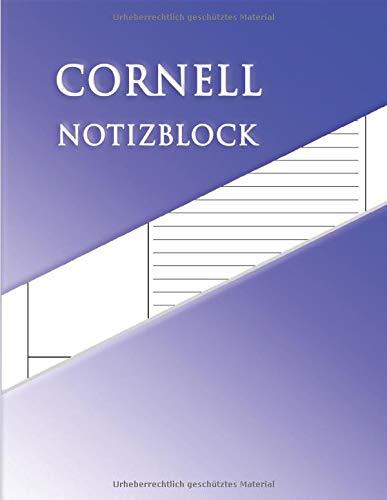Cornell Notizblock: Notizbuch Größe 8,5 x 11 Zoll Zur Vorbereitung verschiedener Notizen, Besprechungen, Lernzusammenfassungen, wichtiger Inhalte, Memorandum