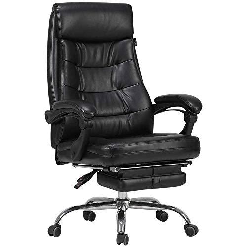 ZLQBHJ Sillas de escritorio de oficina, Sillas y taburetes Sillas de la oficina de Home silla ergonómica, ergonómica Silla de oficina, 360 ° de rotación, 90 ° -160 ° de inclinación, cuero de la PU Sil