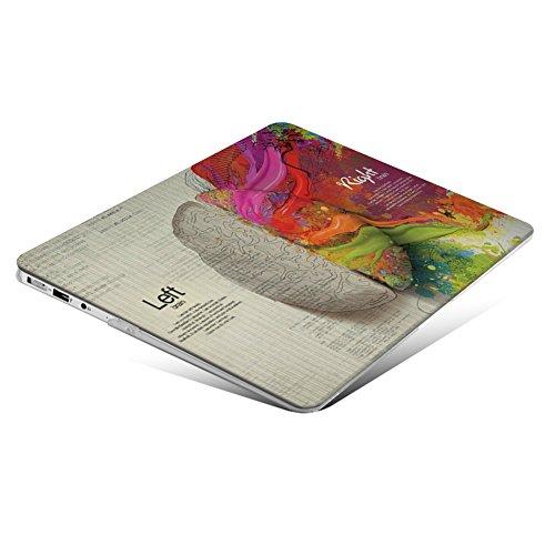 iCasso Rubber Coated Hard Case für das ältere MacBook Air 13 (Modelle: A1369/A1466, Release 2010-2017), linke und rechte Gehirnhälfte