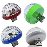 LED USB Mini Voz Activado Cristal Bola Mágica Led Etapa Disco Bola Proyector Fiesta Luces Flash DJ Luces