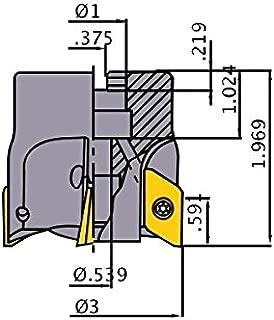 3//8 120/° Carbide Double End Chamfer Mill .3750 RCM4107 RedLine Tools AlTiN Coating .3750 Shank Dia 2.5000 OAL 4 Flutes