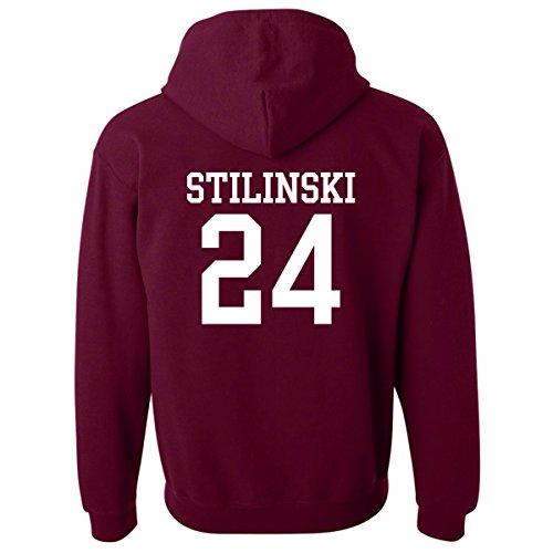 Mars NY Kapuzenpullover Teen Wolf Beacon Hills Lacrosse Stilinski24, für Damen und Herren Gr. Large, kastanienbraun