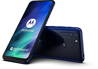 "Motorola One Fusion (128GB, 4GB) 6.5"", 48MP Quad Camera, 5000mAh Battery, Dual SIM GSM Unlocked Global 4G LTE (T-Mobile, AT&T, Metro) International Model XT2073 (Ocean Blue)"