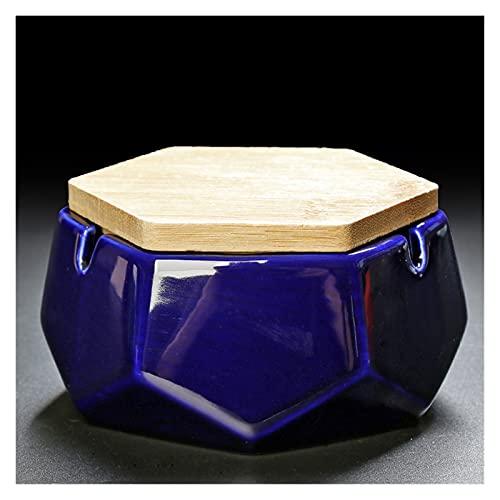 YUXI8541NO Cenicero Cenicero de cerámica con Tapa de Personalidad Creativa de Moda Tamaño de la Oficina Tamaño Sala de Estar Cenicero del hogar Cenicero para Cigarrillos (Color : L)