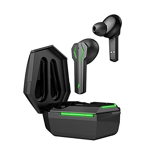Auriculares inalámbricos Bluetooth TW33, Auriculares inalámbricos para juegos competitivos, Auriculares Bluetooth 5.0 con, Auriculares inalámbricos para juegos con micrófono con reducción de ruid