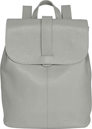 Rucksack Damen Leder BATU   Reise-Handgepäck   Laptop-Rucksack 15 Zoll   Schulrucksack Mädchen   Damen-Rucksack elegant   Beton-Grau