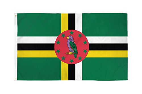 AZ FLAG Dominica Flag 3' x 5' - Dominican Flags 90 x 150 cm - Banner 3x5 ft