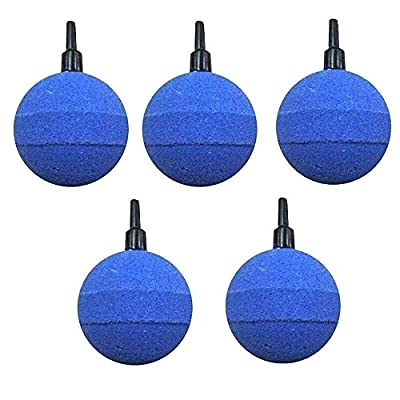 """GadgetcKing 5 x 50mm 2"""" Round Air Stone for Pond or Aquarium Fish Tank Pump Koi Aeration Diffuser Ball Hydroponics Cylinder Airstones Mineral Bubble Release by GadgetcKing"""