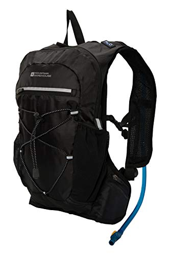 Mountain Warehouse Track Hydro Bag - 6 Litres - Ripstop Hydration Pack, Soft Water Bottle Black