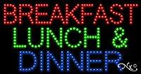 17x 32x 1インチ朝食昼食夕食&アニメーション点滅LEDウィンドウサイン