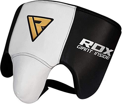 RDX Rindsleder MMA Tiefschutz Kampfsport Boxen Herren Suspensorium Unterleibschutz Karate Kickboxen (MEHRWEG)