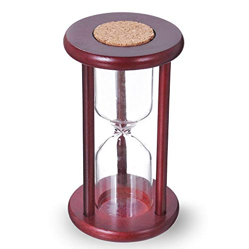 Empty Hourglass Sand Timer, Wooden Frame without Sand