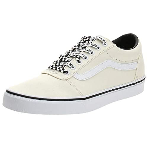 Vans Ward Canvas, Scarpe da Ginnastica Uomo, Avorio ((Checker Lace) Classic White W9Y), 42 EU