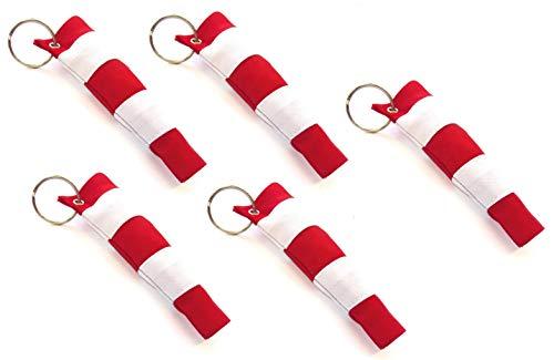 5 Schlüsselanhänger mit Windsack - Windsock genäht