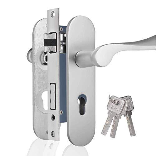 Cerradura de puerta, Cerradura de seguridad interior para el dormitorio, sala de estar, con material de aluminio Space