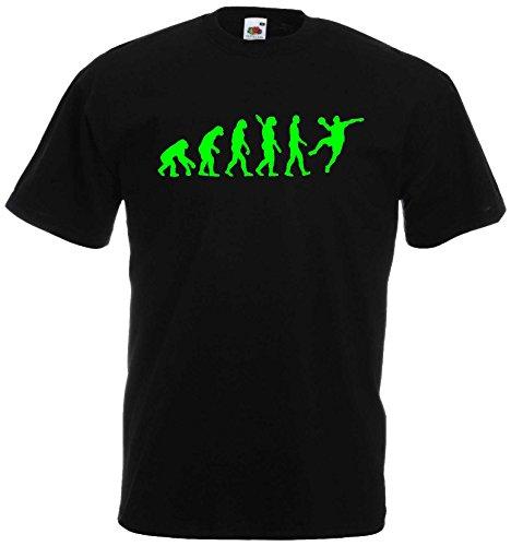 Handball Herren Evolution T-Shirt WM Sport Shirtschwarz/neongrün-L