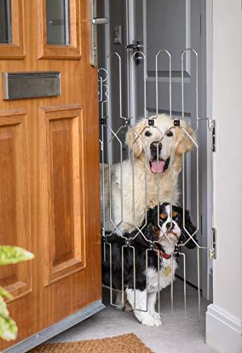Puerta de perro para puertas delanteras, una barrera de seguridad retráctil, portátil...