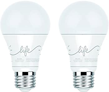 C by GE A19 C-Life Smart LED Light Bulb by GE Lighting 2-Pack Works with Alexa