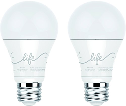 C by GE A19 C-Life Smart LED Light Bulb by GE Lighting, 2-Pack, Works with Alexa